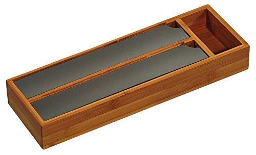 Kesper Folienspender mit Abreißkante inkl. Quickpack Alufolie und Klarsichtfolie 39cm x13cm x5cm x