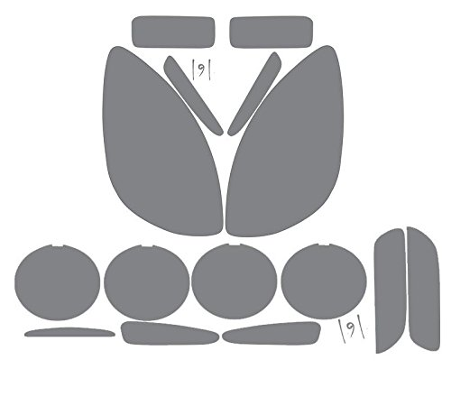 Subject 9 - Fits: Corvette (Z06/ZR1/Grand Sport) Pre-cut vinyl overlay Complete Headlight and Taillight PLUS (2005 2006 2007 2008 2009 2010 2011 2012 2013) - Light Zr1 Tail