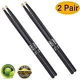 Best Drumsticks Woods - Drum sticks 5a Wood Tip drumsticks Classic Red Review