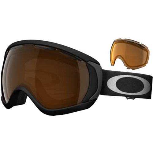 Oakley Canopy Matte Adult Snowmobile Goggles - Black/Black Iridium, Persimmon / OS by Oakley