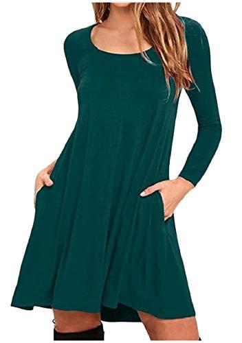 Colore Più Di maglia Formato Pura Collo Verde Coolred Equipaggio A Lunga Corto Manica Abito Bcnx04q