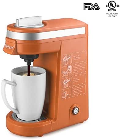CHULUX K-Cup Coffee Maker Single-Serve Coffee Machine,Orange