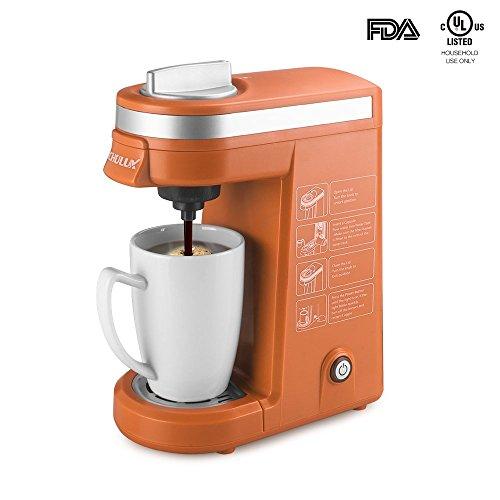 CHULUX Coffee Maker Single-Serve Coffee Machine for K Cups,Orange