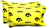 College Covers Iowa Hawkeyes Pair of Solid Pillowcase, Standard