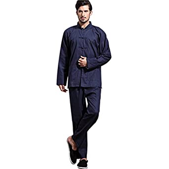 Mens Chinese Kung Fu Shirt and Pants Set Tang Jacket Trousers Dark Blue Size XXXL  sc 1 th 224 & Amazon.com: Mens Chinese Kung Fu Shirt and Pants Set Tang Jacket ...