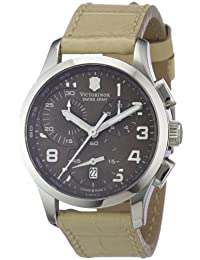 Victorinox Swiss Army Women's ALLIANCE 241320 Beige Leather Swiss Quartz Watch with Brown Dial