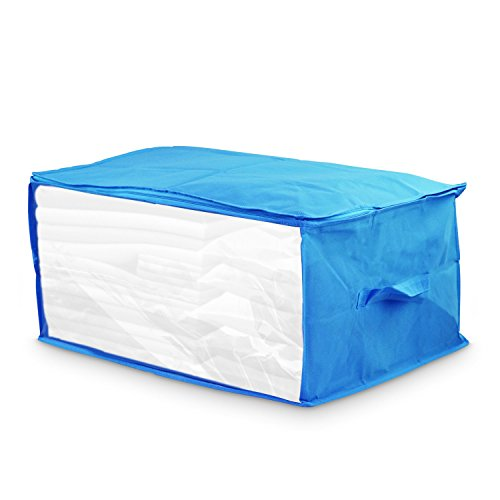 Kubez Canvas Under Bed Storage Bag with Zipper for Blankets, Quilts & Comforters(23.5