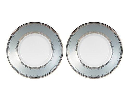 (Ralph Lauren Home Silk Ribbon Slate Saucers (Set of 2))