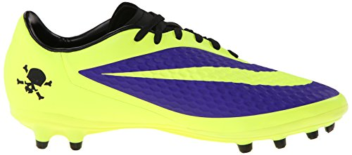 Nike Hyervenom Phelon Fg Mens Fotbollsskor 599730 570 Fotbollsskor Electro Lila / Volt / Svart