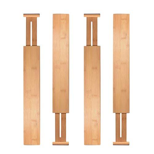 - m·kvfa Bamboo Drawer Divider Adjustable & Expendable Kitchen Drawer Organizer Set of 2 Adjustable Expendable Bamboo Kitchen Drawer Organizer for Bedroom Baby Drawer Bathroom Office Desk