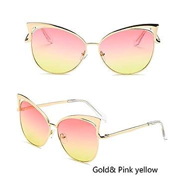 b107c142e4 Aprigy - Gafas de Sol de Gato Ojo de Las Mujeres Marca de diseño de viga  Doble ...