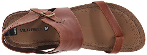 Merrell Womens Whisper Post Gladiator Sandal Tan