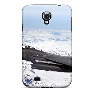 Hot YWxZcIP648YBOqY Case Cover Protector For Galaxy S4- F 15e Strike Eagle Flys Over Glacial Fields