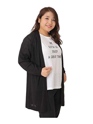 (エウルキューブ) eur3 【大きいサイズ】【セットアイテム】プリントTシャツ&ニットカーディガン OLCED13069