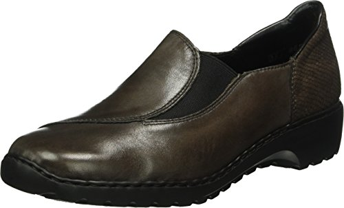 Rieker L6064, Mocasines para Mujer Gris (graphit/stromboli / 45)