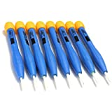 8Réglage Fréquence Tournevis en plastique antistatique en céramique à fente et Phillips 90mm couleur: bleu