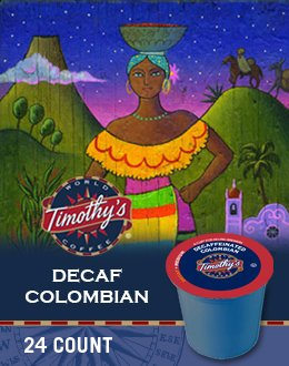 Timothy's World Coffee Decaf Colombian K-Cup