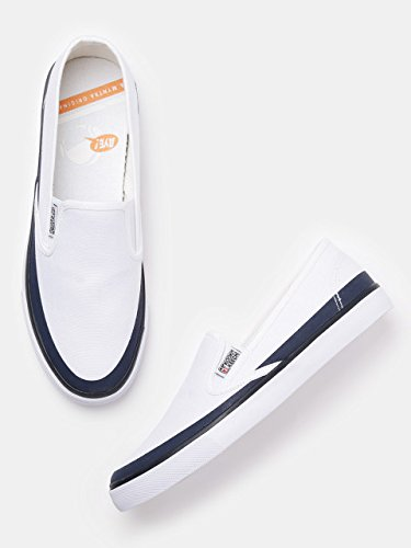 02665715c026b Kook N Keech Men White Slip-Ons (9 UK): Amazon.in: Shoes & Handbags