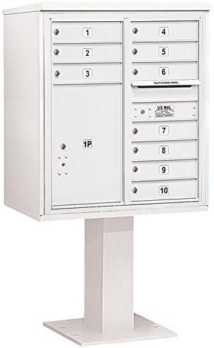 Black Salsbury Industries 3411D-20BLK 4C Pedestal Mailbox