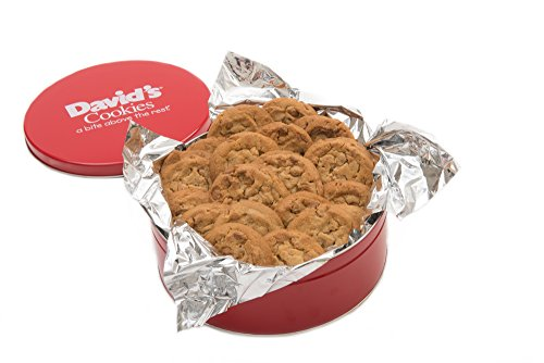 David's Cookies Fresh Baked Peanut Butter Cookies 1 Lb. Gift Tin