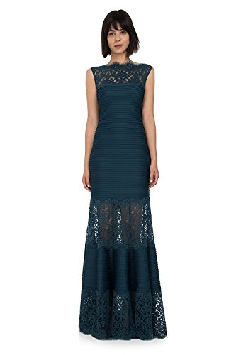 Tadashi Shoji Lace Inset Evening Gown Dress Mother Of The Bride