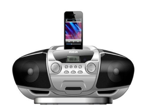 Price comparison product image RCA Ri171 Portable iPhone Speaker with FM Radio