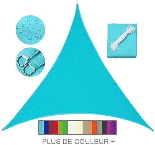 Velo De Sombra Impermeable Triangular, 95% Anti UV UV Pergola Car Shelter para Patio Al Aire Libre, Jardín, Invernadero, Terraza Y Lona De Sombra para Acampar,Blue-2.4X2.4X2.4m: Amazon.es: Hogar