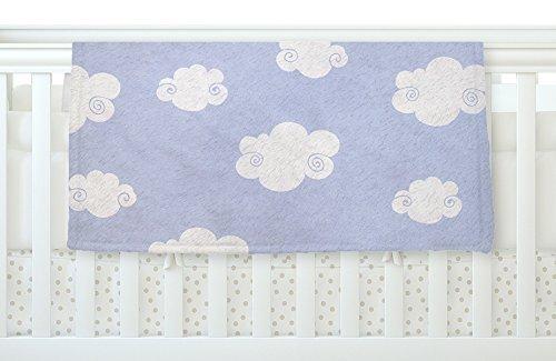 KESS InHouse Heidi Jennings Happy Clouds White Blue Fleece Baby Blanket 40 x 30 [並行輸入品]   B077ZR99GJ