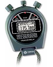 "Thomas 1043 Three Button Stopwatch, 0.1 Percent Accuracy, 2-1/8"" Diameter x 5/8"" Thick"