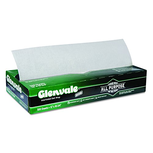 Glenvale G12 Interfolded Medium Weight Dry Waxed Deli Paper, 10.75'' Length x 12'' Width, White (Case of 12 Packs, 500 Sheets per Pack) by Georgia-Pacific