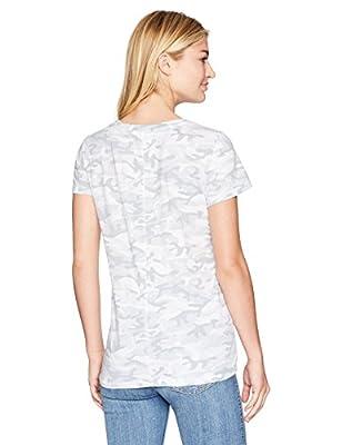 Michael Stars Women's Camo Print Short Sleeve Crew Neck