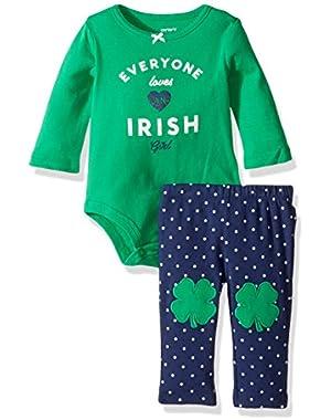 Baby Girls' 2 Piece St. Patrick Day Set