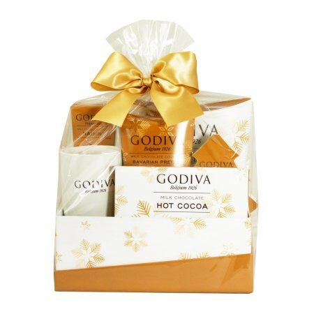 Godiva Gold Glitter Holiday Gift Box, 6 pc