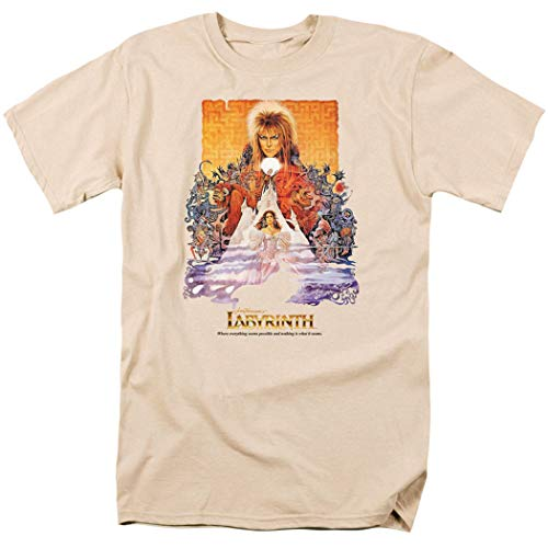 Labyrinth David Bowie Unisex T-shirt with Free Stickers, S to 5XL