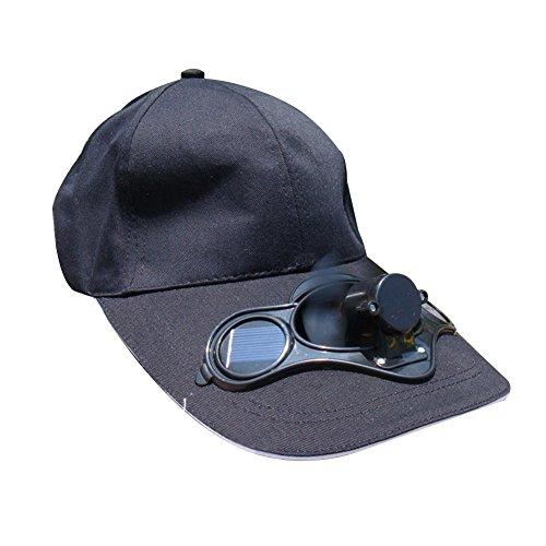 r Hat Baseball Cap for Fishing Running Cap with Solar Power Fan ()