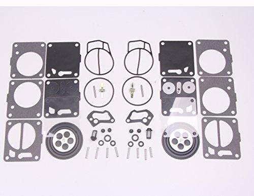 Carburetor Rebuild - New 2 sets Twin Carburetor Carb Repair Rebuild Kits for Mikuni SeaDoo 50 717 720 787 800 SP GS GTX HX XP SPX GTS