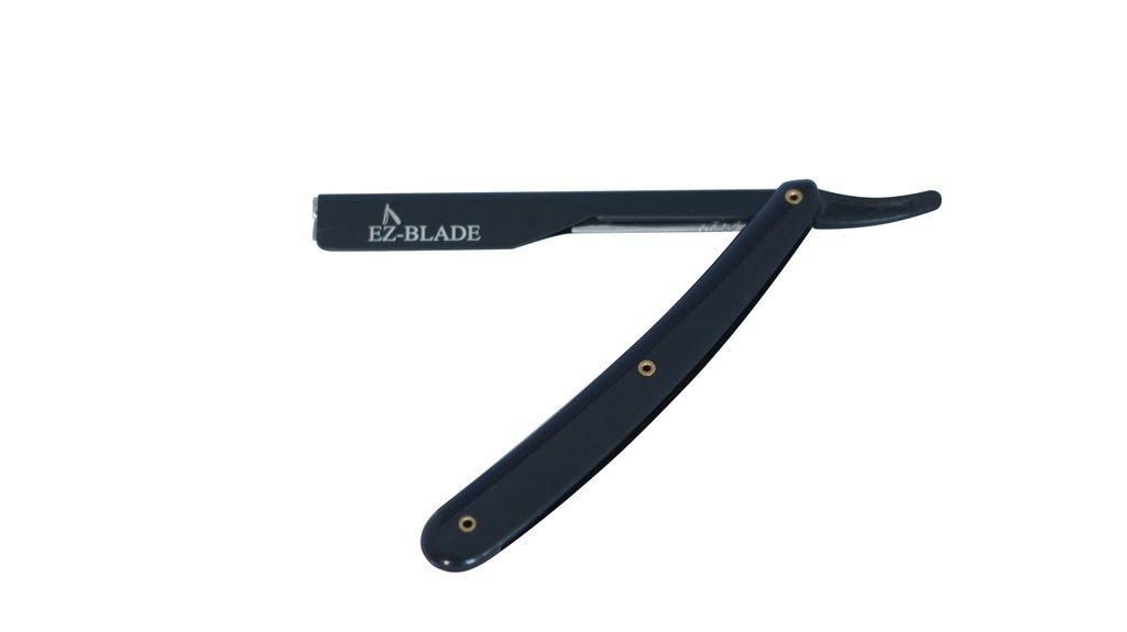 EZ BLADE Pitch Black Straight Edge Razor