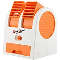 Premium USB and Battery Powered Mini Portable Dual Blower Desk Table Air Cooler Fan