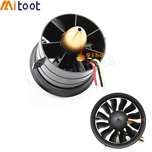 - Kamas 1set 64mm 70MM 90MM 120MM 12 Blades Ducted Fan System EDF for Jet Plane with Brushless Motor RC Plane EDF RC Helicopter - (Color: 64MM 4S 2500KV)