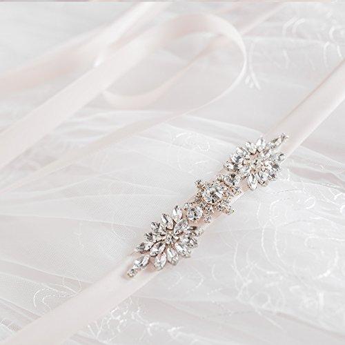 Ceintures De Châssis De Mariée Diamant Des Femmes Azalées De Ceinture De Ceinture De Mariage Pour Le Champagne De Mariage