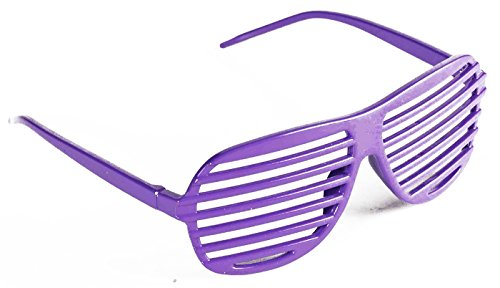 Kanye West Costume (Forum Novelties Women's Neon Purple Slotted Glasses Neon Purple One Size Fits Most)