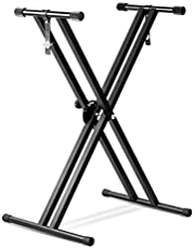 PrimeCables Double-Brace X Musical Classic Keyboard Stand Double X Piano Stands