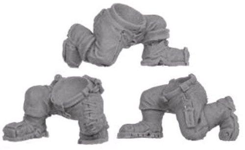 Kromlech Conversion Bitz: Orc Kneeling Legs (3) Miniature (Kneeling Leg)