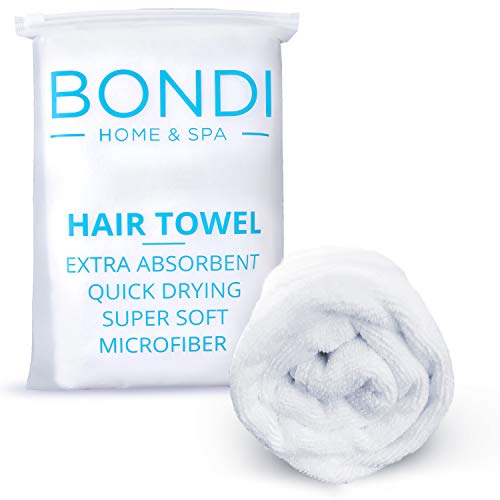 Microfiber Hair Towel for Women - Super Absorbent, Fast Drying, Large & Soft - Perfect for Long or Curly Hair - 42 x 22 Inches (Long Thin Towels)