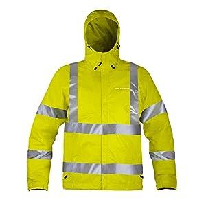 Grunden's Men's Gage Weather Watch Ansi Certified Jacket, Hi Vis Yellow, Small