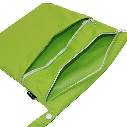 Damero de viaje lindo mojado bebé y pañales de tela en seco bolsa de asas Organizar(Tree) Green