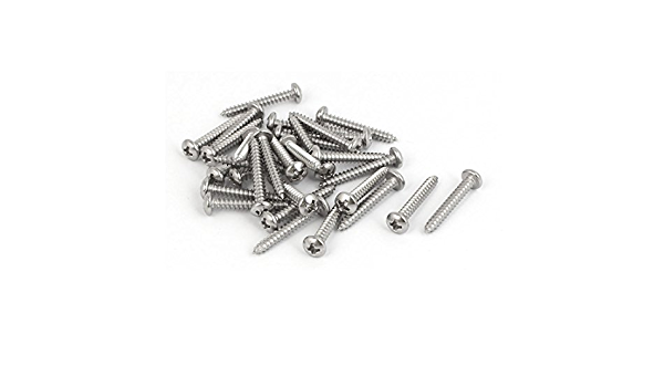Details about  /M1 M2-M5 304 Stainless Round Head Phillip Pan Head Flat Tail Self-tapping Screw