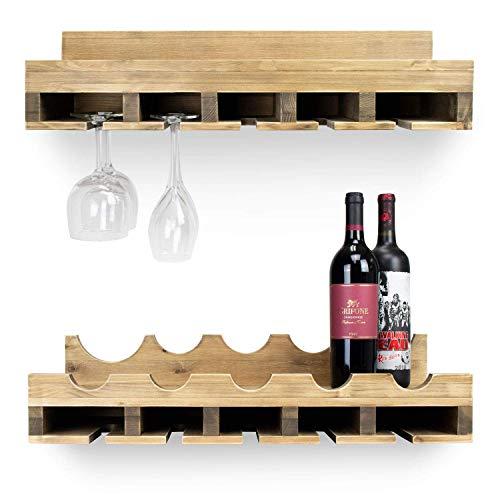 wine rack glass bottle holder - 9