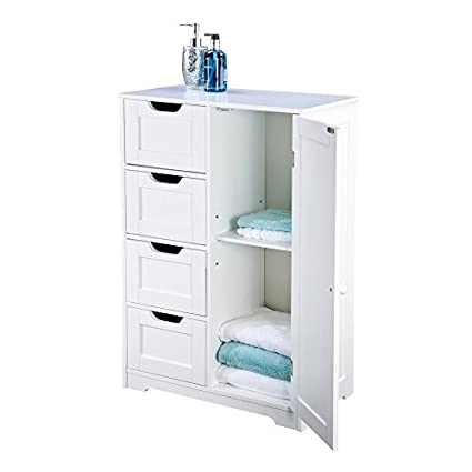bathroom cabinet storage four drawers white wooden and freestanding suit bedroom living hallway sennen range by elegant brands amazoncouk bathroom storage drawers a61 drawers