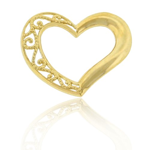 Gold Small Floating Heart, 10k